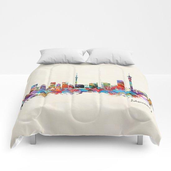 Johannesburg South Africa skyline Comforters