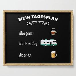 Mein Tagesplan: Kaffee, Wohnmobil & Bier Serving Tray