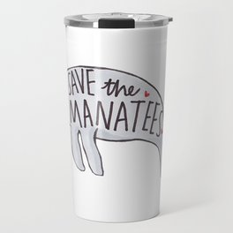 Save the Manatees Travel Mug