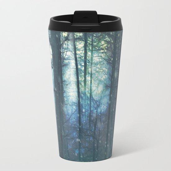 The Woods In Winter Metal Travel Mug