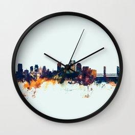 Sacramento California Skyline Wall Clock