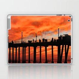 Red Skies At Night ~ Sunset HB Pier Laptop & iPad Skin
