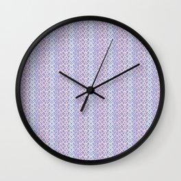 Lilac Abstract Fish Net Loop Pattern Wall Clock