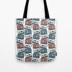 Cassette Tape Pattern Tote Bag