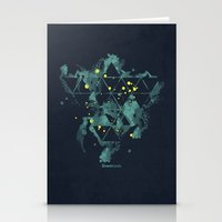 "deadmau5 Stationery Cards featuring Gravity Levels ""Space Bird"" by Sitchko Igor"