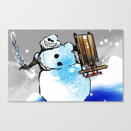 War With Winter Canvas Print