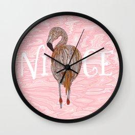 Nice Flamingo Wall Clock