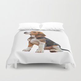 Drawing puppy Beagle Duvet Cover