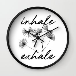 Inhale-exhale Wall Clock