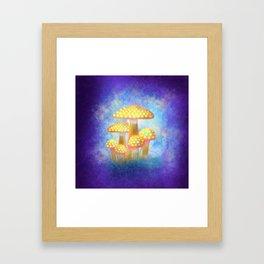 Yellow Bioluminescence Framed Art Print