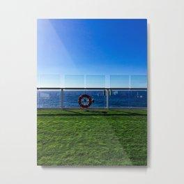 Cruise Ship Grass Area Metal Print