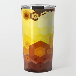Molten Steel Honeycomb Sunset Travel Mug