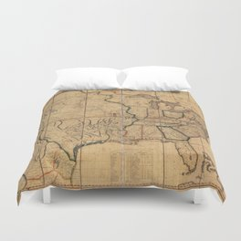 Map of the United States by John Melish (1818) 3rd State Duvet Cover