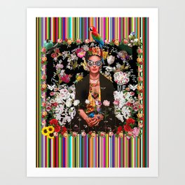 Frida OTT Kahlo You Are Too Much Art Print