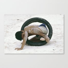 Well Tyred! Canvas Print