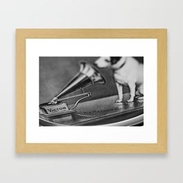 His Master's Voice - Nipper The Dog Framed Art Print