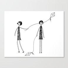 Unlike Eloise, Ramona knew how to fly a kite Canvas Print