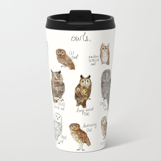 Owls Metal Travel Mug