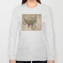 Charte van Asien (Map of Asia) 1805 Long Sleeve T-shirt