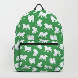 Samoyed Pattern (Green Background) Backpack