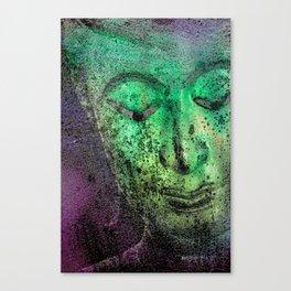Buddha Face green Canvas Print