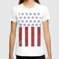 american flag T-shirts featuring American Flag by Nicko-Suave