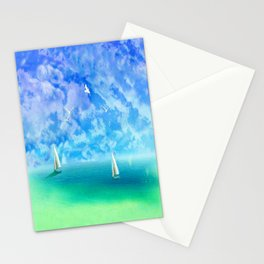 Beautiful Day For Sailing Stationery Cards