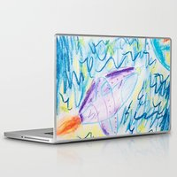 spaceship Laptop & iPad Skins featuring Spaceship by SorinaBogiu