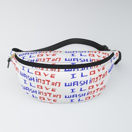I love Washington-washington,washingtonian,american rome,dc,white house Fanny Pack