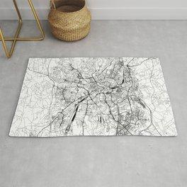 Krakow White Map Rug