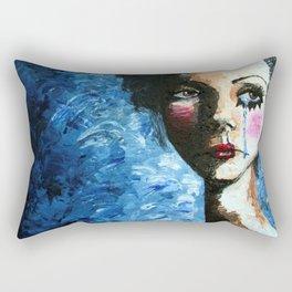 Sad Clown Girl Rectangular Pillow