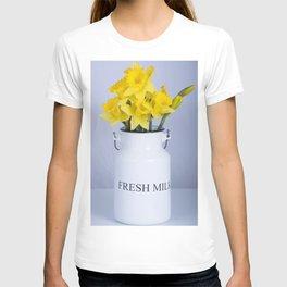 Daffodils in Fresh Milk Jug T-shirt