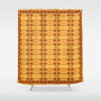 ashton irwin Shower Curtains featuring Ebola Tapestry-1 by Alhan Irwin by Microbioart