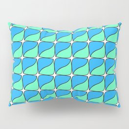 Abstract green and blue square lozenge Pillow Sham