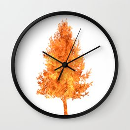 pear tree fire Wall Clock