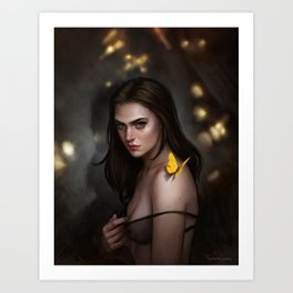 Burn on the edge Art Print