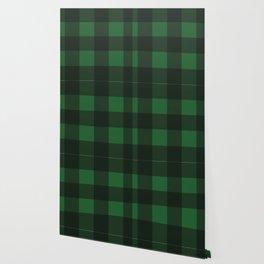 Green and Black Plaid Wallpaper