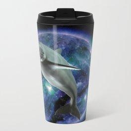 Space dolphin Travel Mug