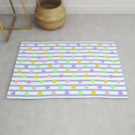 Pastel Dots and Stripes Rug