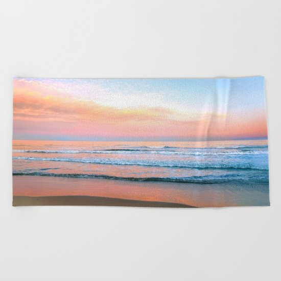 Pastel Ocean Beach Towel
