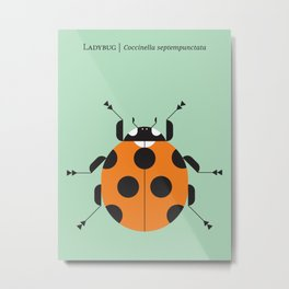 Lady Bug Green Metal Print