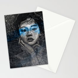 Portrait of A Sick Feeling Stationery Cards