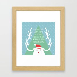 Santa gifts Framed Art Print