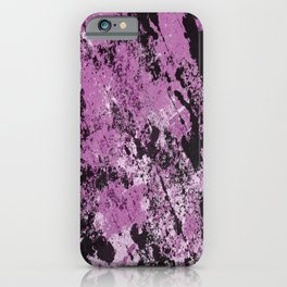 Abstract Texture Deux - Purple, White and Black iPhone Case