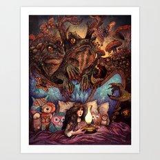The Owl Princess and Her Night Terrors Art Print
