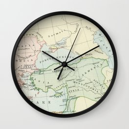 Old Map of The Roman Empire Wall Clock