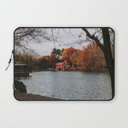 Landscape River Side Cottage House Photography Fall Season Laptop Sleeve
