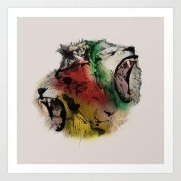 Lion Structure Art Print
