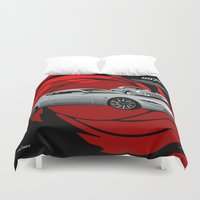james bond Duvet Covers featuring James Bond Aston Martin DB10 from Spectre by car2oonz