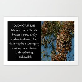 Possess A Pure, Kindly and Radiant Heart Art Print